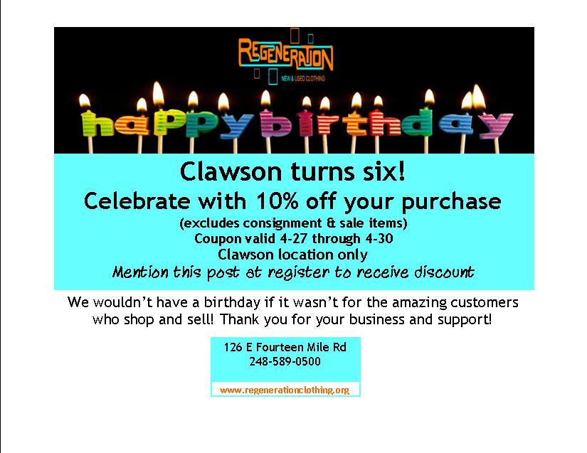 clawson turns six
